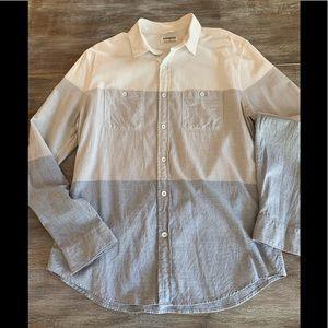 Express Men's Cotton Casual Button Down Shirt
